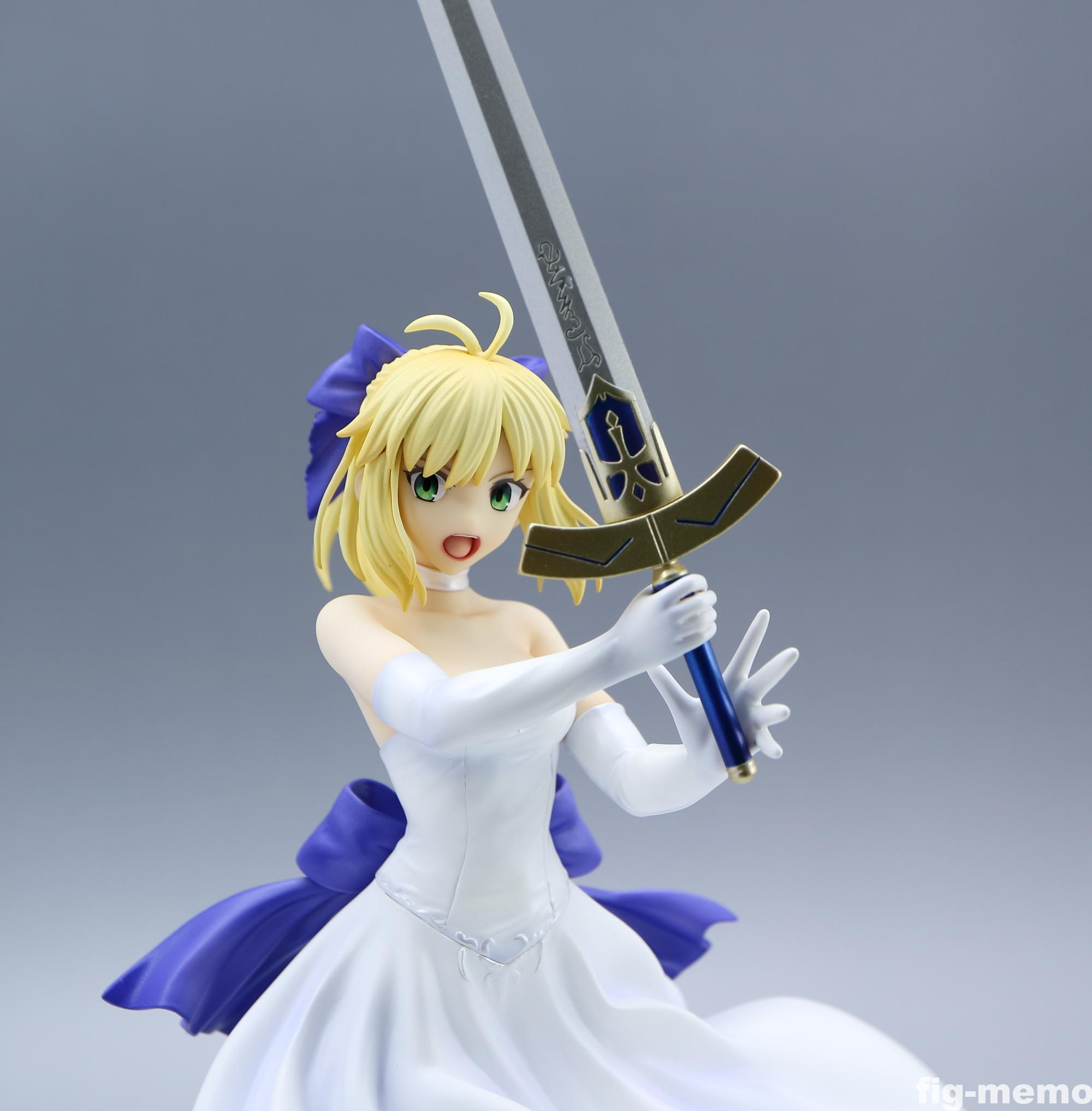 free6 - 【レビュー】ベルファイン「Fate/staynight [Unlimited Blade Works] セイバー 白ドレスVer.」